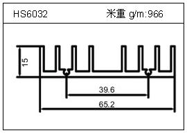 变频器铝型材HS6032