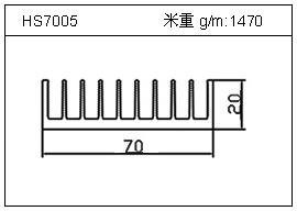 变频器铝型材HS7005
