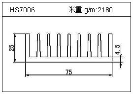 变频器铝型材HS7006