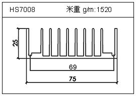 变频器铝型材HS7008