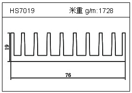 变频器铝型材HS7019