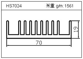 路灯铝型材HS7024
