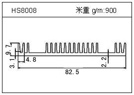 路灯铝型材HS8008