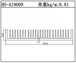插片散热器HS-A19009