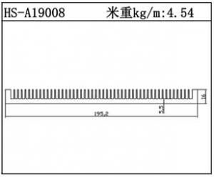 插片散热器HS-A19008