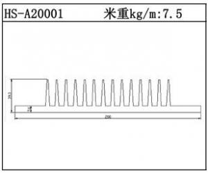 插片散热器HS-A20001
