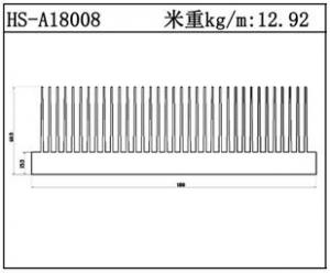 型材散热器HS-A18008