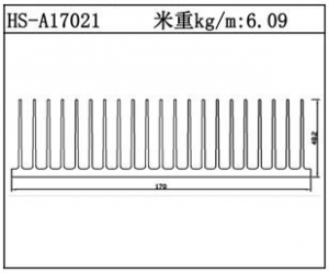 插片散热器HS-A17021