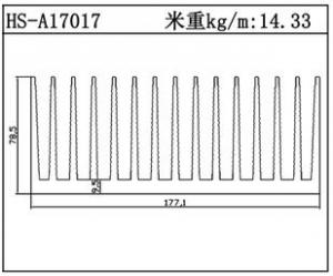 型材散热器HS-A17017