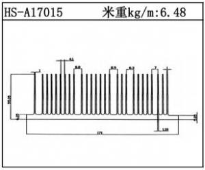 型材散热器HS-A17015