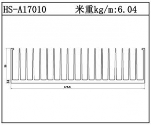 型材散热器HS-A17010