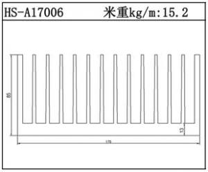型材散热器HS-A17006