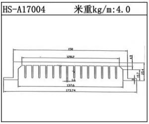 型材散热器HS-A17004