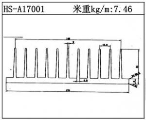 型材散热器HS-A17001