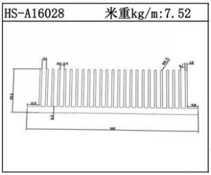 型材散热器HS-A16028