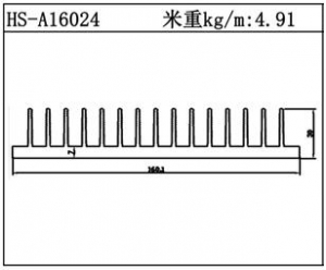 型材散热器HS-A16024