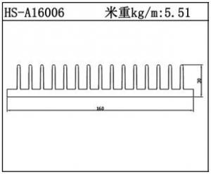 型材散热器HS-A16006