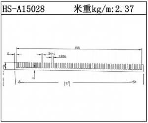型材散热器HS-A15028