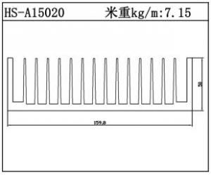 型材散热器HS-A15020