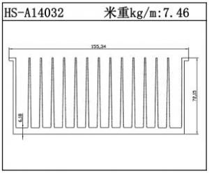 型材散热器HS-A14032