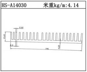 型材散热器HS-A14030