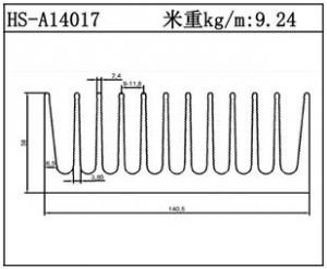 型材散热器HS-A14017
