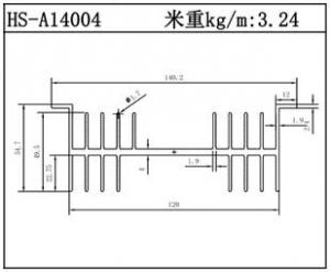 工业铝型材HS-A14004