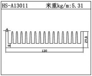 工业铝型材HS-A13011