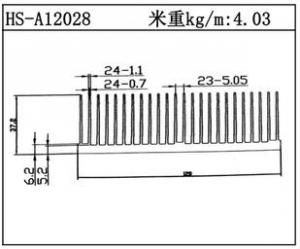 路灯散热器HS-A12028
