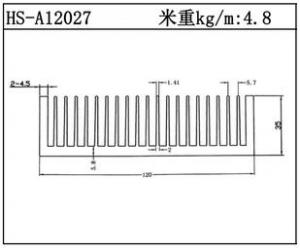 路灯散热器HS-A12027