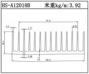 路灯散热器HS-A12018B