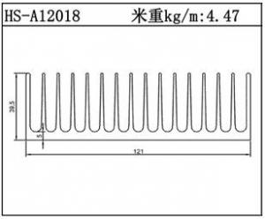 路灯散热器HS-A12018