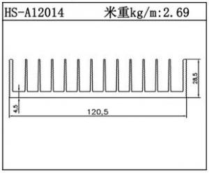 路灯散热器HS-A12014