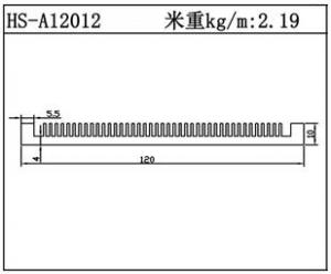 路灯散热器HS-A12012