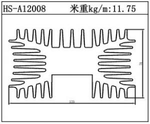 路灯散热器HS-A12008