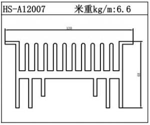 路灯散热器HS-A12007