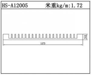 路灯散热器HS-A12005
