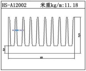 路灯散热器HS-A12002