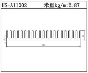散热器铝型材HS-A11002