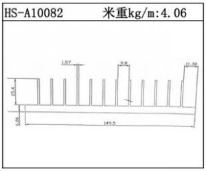 散热器铝型材HS-A10082