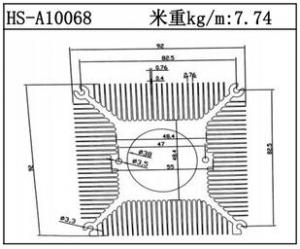 电子散热器HS-A10068