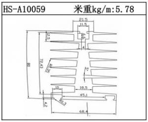 散热器铝型材HS-A10059